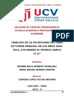 Tesina Sobre El Índice General de La Bolsa de Valores de Lima (Igbvl)