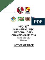 Nor_kfc-msa-milo-nsc National Open Champioship 2016- Updated 28-9-16