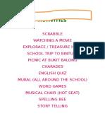 2014 English Club Activities