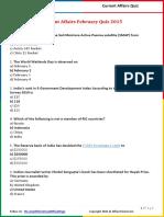 Current Affairs February Quiz 2015.pdf
