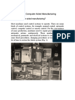 Introduction to Computer Aided Manufacturing