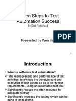 Seven Steps to Test Automation Success
