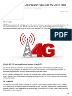 Gadgetstouse.com-What is 4G LTE 4G LTE Popular Types and 4G LTE in India