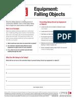 Equipment Falling Objects