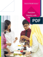 Brochure Dietetics With Nutrition