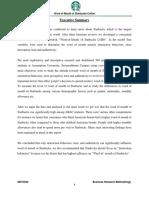 79594621 Starbucks Report Business Research Methodology