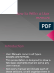 Guideline for Writing User Manuals and Reports 1
