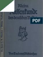 Guenther, Hans - Kleine Rassenkunde Des Deutschen Volkes (1934, 172 S., Scan, Fraktur)