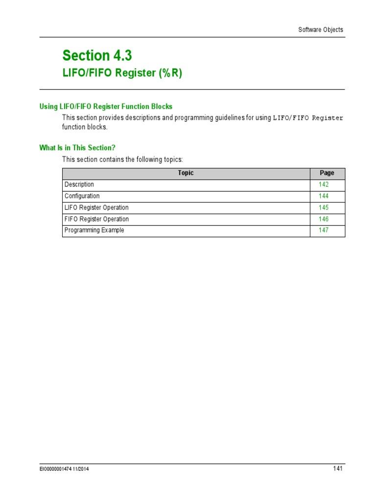 Lifo-fifo Register (%r) | Parameter (Computer Programming
