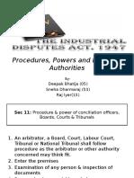 Procedures, Powers and Duties of Authorities- IDA,1947