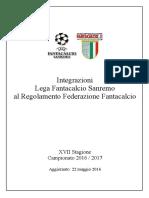 Regolamento - Integrazioni LFS