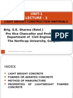 Lecture 1 - Light Weight Construction Materials by Brig. S.K. Sharma