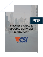 Professional Directory 2015