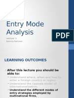INB 480 Entry Mode Analysis