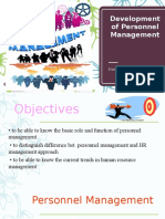 Development of Personnel Management