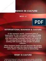 Week 6 - Difference in Culture