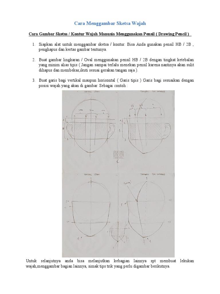 Cara Menggambar Sketsa Wajah