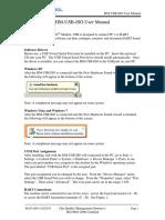 ProComSol HM-USB-IsO User Manual