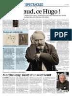 Quel Salaud, Ce Hugo - Le Parisien 26 Avril 2016