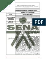 Informacion General Gel Programa de Formacion Titulada Tecnólogo en Gestión Empresarial