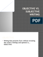 Objective and Subjective PowerPoint With Practice