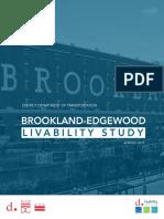 2016 Brookland Edgewood Livability Study Full Report
