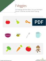What Does Not Belong Food Preschool