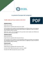 La Patente Europea Del Computer - Tariffe