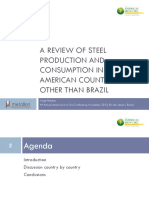 A Review of Steel Production and Consumption in South American Countries, Other Than Brazil