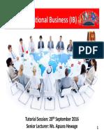 IB Tutorial Presentation