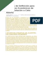 Métodos de Definición Para Los Límites Económicos de Una Explotación a Cielo Abierto