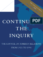 CFR - Continuing The Inquiry