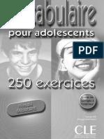 Vocabulaire Pour Adolesc Bie N Santinan Ph