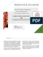 Plan Municipal de Conservacion Del Patrimonio Intangible