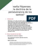 ¿Enseña Filipenses 1-6 santificacion progresiva