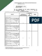 Nomina de Presencia Correspondiente a Una Sociedad de Responsabilidad Limitada