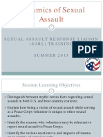 Peace Corps SA OSS Training Dynamics of Sexual Assault