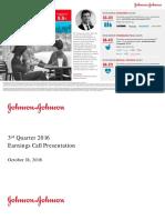 JNJ Earnings Presentation 3Q2016