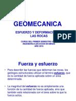 Geomecanica, Esfuerzos y desformacion de Rocas