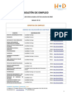 BOLETÍN DE EMPLEO Nº 15 - FUNDACIÓN H+D