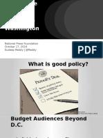 Making the Budget Matter Outside of Washington