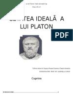 Cetatea Ideala a Lui Platon
