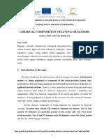 Eng. Kap. 1-Bch-chemical Composition of Living Organisms