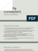 Filosofia cunoașterii in epoca contemporana