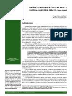 REIS, Thiago Felipe Dos; BENATTE, Antonio Paulo. Tendências Historiográficas Na Revista História - Questões e Debates - 1980-1990