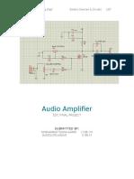 Audio Amplifier Report