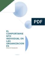 El Comportamiento Individual en Las Organizaciones