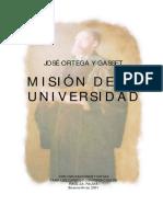 Ortega y Gasset Mision de La Universidad.desbloqueado