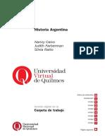 Calvo Faberman Ratto Historia Argentina UNQ