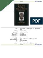 Carol Dougherty, Leslie Kurke Cultural Poetics in Archaic Greece_ Cult, Performance, Politics  1998.pdf